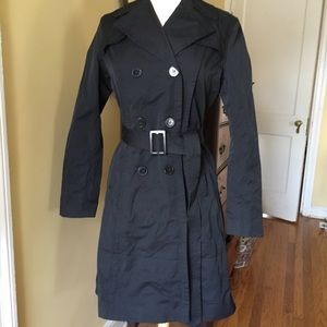 DKNY warm double- breasted trench coat!